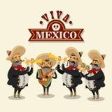 Diseño mexicano de la cultura stock de ilustración