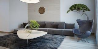 Diseño minimalista de salón Fotos de archivo