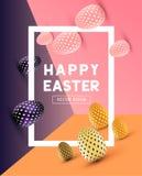 Diseño moderno abstracto de Pascua Foto de archivo