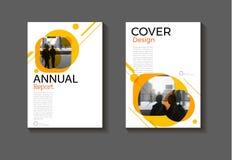 Diseño moderno BO moderna de la cubierta del fondo abstracto amarillo de la disposición ilustración del vector