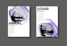 Diseño moderno BO moderna de la cubierta del fondo abstracto púrpura de la disposición Imágenes de archivo libres de regalías