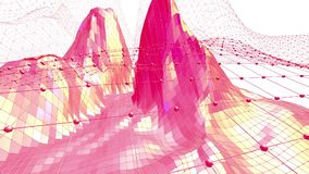 Diseño moderno 3D de la historieta Superficie polivinílica baja roja brillante abstracta como fondo elegante en diseño poliviníli metrajes