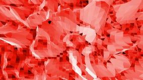 Diseño moderno 3D de la historieta Superficie polivinílica baja roja brillante abstracta como fondo magnífico en diseño poliviníl almacen de video