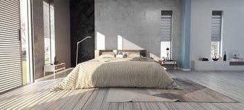 Diseño moderno de dormitorio Imágenes de archivo libres de regalías