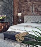 Diseño moderno de dormitorio Fotografía de archivo libre de regalías
