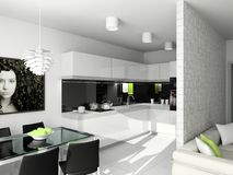 Diseño moderno de interior foto de archivo