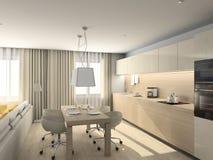 Diseño moderno de interior stock de ilustración