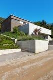 Diseño moderno de la arquitectura, casa Foto de archivo