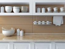 Diseño moderno de la cocina Foto de archivo