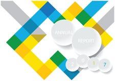 Diseño moderno de la cubierta del informe anual del vector Fotografía de archivo