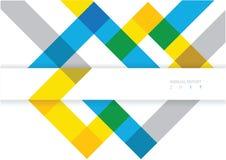 Diseño moderno de la disposición de la cubierta del informe anual del vector Fotos de archivo libres de regalías
