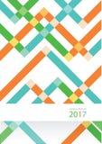 Diseño moderno de la disposición de la cubierta del informe anual del vector Imagen de archivo