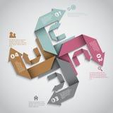 Diseño moderno de la disposición de las opciones del infographics ilustración del vector