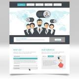 Diseño moderno de la plantilla del sitio web Fotos de archivo
