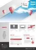 Diseño moderno de la plantilla del sitio web Foto de archivo