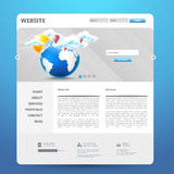 Diseño moderno de la plantilla del sitio web Fotos de archivo libres de regalías