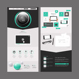 Diseño moderno de la plantilla del sitio web Imagen de archivo libre de regalías