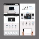 Diseño moderno de la plantilla del sitio web Fotografía de archivo