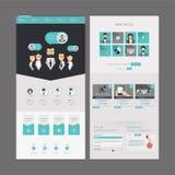 Diseño moderno de la plantilla del sitio web Imágenes de archivo libres de regalías