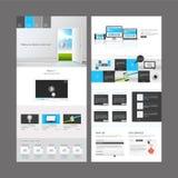Diseño moderno de la plantilla del sitio web Imagenes de archivo
