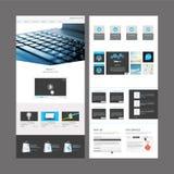 Diseño moderno de la plantilla del sitio web Imagen de archivo