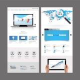 Diseño moderno de la plantilla del sitio web Foto de archivo libre de regalías