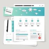 Diseño moderno de la plantilla del sitio web del vector Fotografía de archivo
