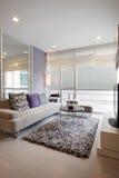 Diseño moderno de la sala de estar Foto de archivo