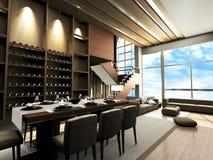 Diseño moderno de la sala de estar Fotos de archivo