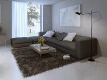 Diseño moderno de la sala de estar imagen de archivo libre de regalías