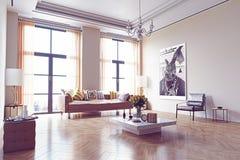 Diseño moderno de la sala de estar Fotos de archivo libres de regalías