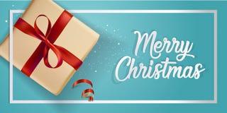 Diseño moderno 2018 de la tarjeta de felicitación de la Navidad Imagen de archivo