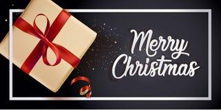 Diseño moderno 2018 de la tarjeta de felicitación de la Navidad Fotografía de archivo