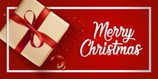 Diseño moderno 2018 de la tarjeta de felicitación de la Navidad Imagenes de archivo