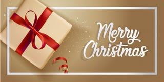 Diseño moderno 2018 de la tarjeta de felicitación de la Navidad Imagen de archivo libre de regalías
