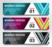 Diseño moderno de las banderas Imagen de archivo libre de regalías