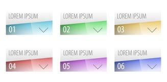 Diseño moderno de las opciones del estilo de la etiqueta Imagen de archivo