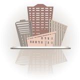Diseño moderno de los edificios de las propiedades inmobiliarias Fotos de archivo