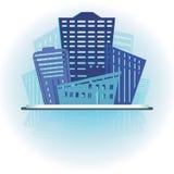 Diseño moderno de los edificios de las propiedades inmobiliarias Foto de archivo libre de regalías