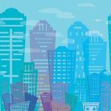 Diseño moderno de los edificios de las propiedades inmobiliarias del modelo inconsútil Paisaje urbano r de la textura Imagenes de archivo