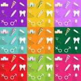 Diseño moderno de los iconos del web para médico determinado del icono móvil de la sombra Fotos de archivo libres de regalías
