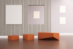 Diseño moderno de lujo de la simplicidad viva Imagen de archivo libre de regalías