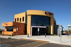 Diseño moderno de un banco en Gilbert Arizona Imagenes de archivo