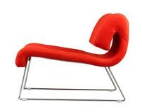 Diseño moderno de una silla roja imagen de archivo libre de regalías