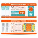 Diseño moderno del boleto del baloncesto stock de ilustración