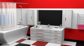 Diseño moderno del cuarto de baño Fotografía de archivo libre de regalías