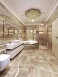 Diseño moderno del cuarto de baño Foto de archivo libre de regalías