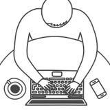 Diseño moderno del espacio de trabajo stock de ilustración