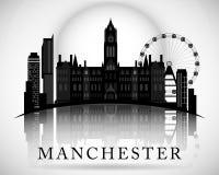 Diseño moderno del horizonte de Manchester City inglaterra Fotografía de archivo libre de regalías