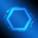 Diseño moderno del marco del polígono Imagen de archivo